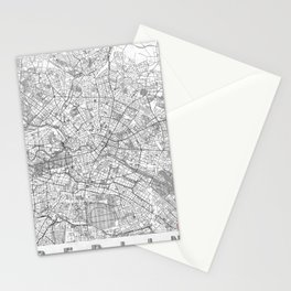 Berlin Map Line Stationery Cards