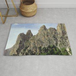 Scenic Mountain Peaks Alpine landscape Rug