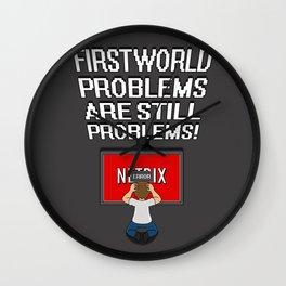 First World Problems - TV Wall Clock
