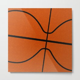 Fantasy Basketball Super Fan Free Throw Metal Print