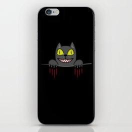 Creepy Pocket Cat iPhone Skin