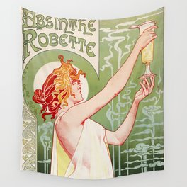 Absinthe Robette Poster- Henri Privat-Livemont Wall Tapestry