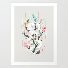 Dragon and His Treasure Art Print