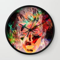 bowie Wall Clocks featuring Bowie by Joel Mata