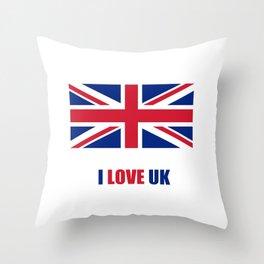 Flag of UK 8- London,united kingdom,england,english,british,great britain,Glasgow,scotland,wales Throw Pillow