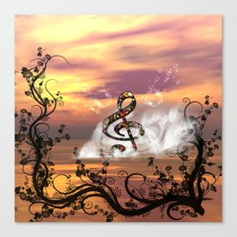 Colorful clef Canvas Print