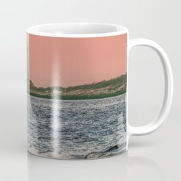 Pink sky and the Thacher's Islands north tower Coffee Mug