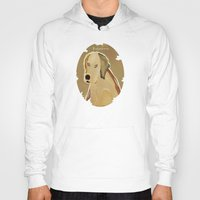golden retriever Hoodies featuring golden retriever dog modern by bri.buckley