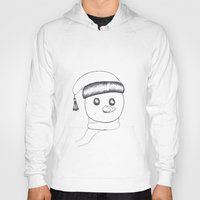 snowman Hoodies featuring snowman by gaus