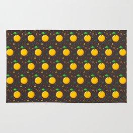 Pixel Oranges - Dark Rug