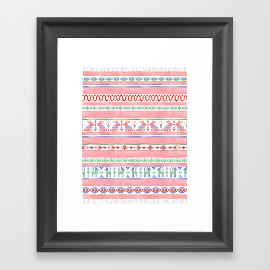 Mexican Blanket Framed Art Print