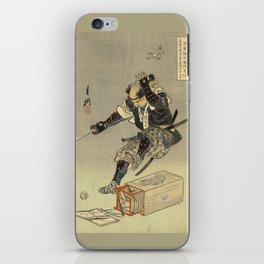 Samurai worrior ukiyoe print iPhone Skin