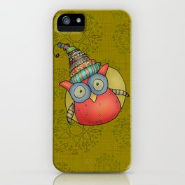 Puki Owl - mustard iPhone Case