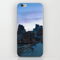metropolis iPhone & iPod Skins featuring Metropolis by Pan Kelvin