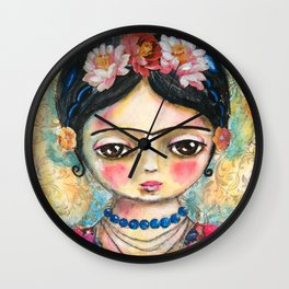 The heart of Frida Kahlo  Wall Clock