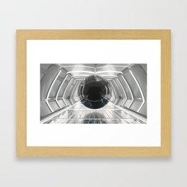 warped orb Framed Art Print