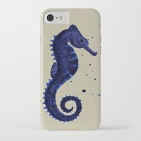 sea horse iPhone & iPod Cases featuring Sea Horse by Chrystal Elizabeth