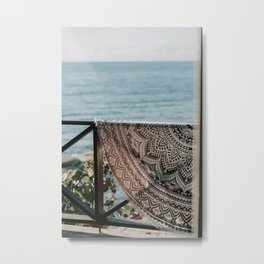 Your perfect holiday feeling | Willemstad, Curaçao | Beach towel | Oceanview | Travel Photography Art Metal Print