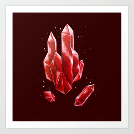Crystal Red Art Print