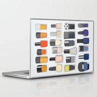 nail polish Laptop & iPad Skins featuring my nail polish collection by uzualsunday