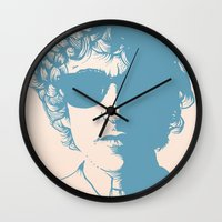 dylan Wall Clocks featuring Dylan by Jeroen van de Ruit