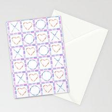 Hearts XOX Stationery Cards