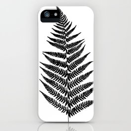 Fern silhouette iPhone Case