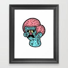 Moustache Framed Art Print