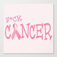 F*ck Cancer Canvas Print