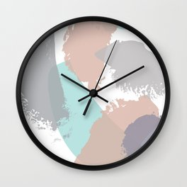 Brush strokes composition #3 Wall Clock