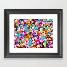 Rainbow Party Colors Framed Art Print