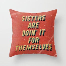 Sisters are doin' it for themselves - A Hell Songbook Edition Throw Pillow