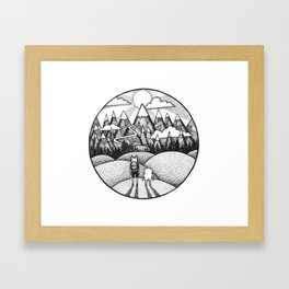 Land of Ooo Framed Art Print