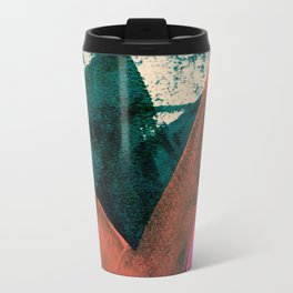 Expand [3]: a colorful, minimal abstract piece in pinks, green, and blue Travel Mug