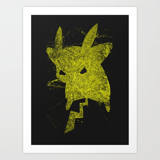Yellow Monster Art Print