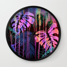 Drippy Jungle {acid} Wall Clock