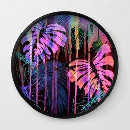 Drippy Jungle {acid} Wall Clock