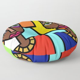 African Beauties  Floor Pillow