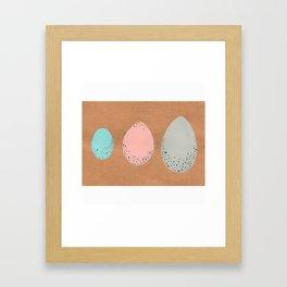 Pastel Speckled Egg Trio Painting Framed Art Print