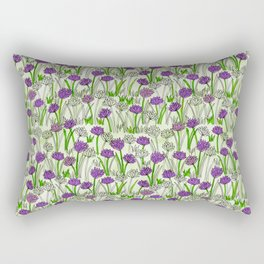 A Field of Chives Rectangular Pillow