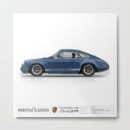 1967 Porsche 912R AQUAMARINE Metal Print