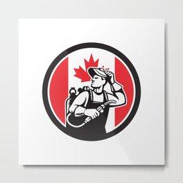 Canadian Welder Canada Flag Icon Metal Print