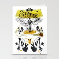 steampunk Stationery Cards featuring SteamPunk by Genco Demirer