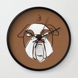 Bono the Bulldog Wall Clock