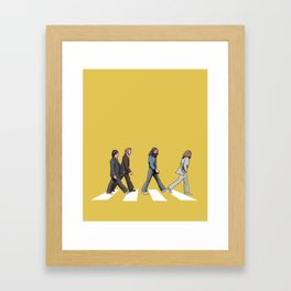 Yellow Abbey Road Framed Art Print