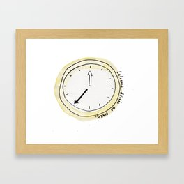 Lateness drives me crazy Framed Art Print