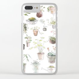 Plant design 5 Clear iPhone Case