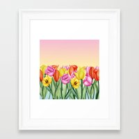 tulips Framed Art Prints featuring Tulips by Julia Badeeva