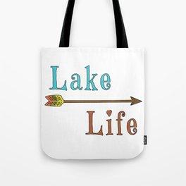 Lake Life - Summer Camp Camping Holiday Vacation Gift Tote Bag