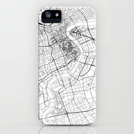 Shanghai White Map iPhone Case